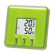 温湿度計(グリーン)