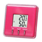 温湿度計(ピンク)