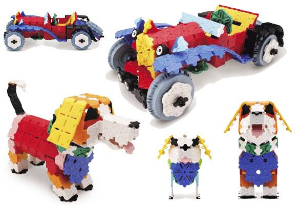 「クラシックカー」や「犬の親子」など、全部で38種類も作れる長く飽きずに遊んでいただけるセットです。もちろん作り方シートも付属!