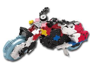 知育ブロック LaQ ハマクロンコンストラクター レースカートとジェットファイターを合わせると『スーパーチョッパー』が完成!