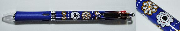 世界の花柄ボールペン Florista タンザニアブルー