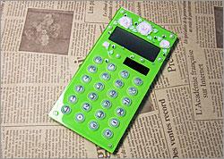 オリジナル デコ電卓 バラ