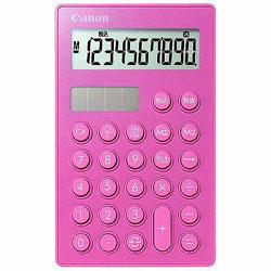 首から下げれるキャノンのミニ電卓 スマートミニ ピンク