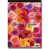 たくさんのバラとガーベラのA5レターパッド(便せん) ~ エトランジェ