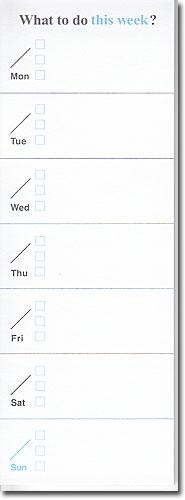 ウィークリー(週間)の予定や日課が書けます。